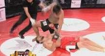 Şov yaparak ringe çıkan boksör 9 saniyede nakavt oldu