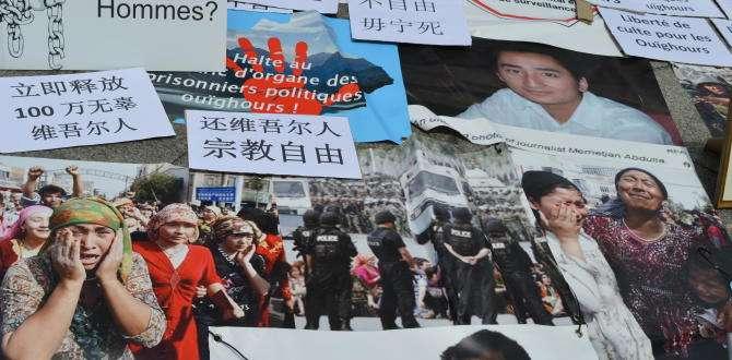 5 Temmuz 2009 Urumçi katlıyamı şehitleri, 2273 Müslüman Uygur Türkü Paris'te unutulmadı.