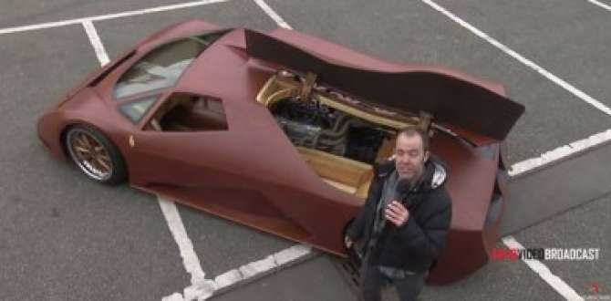 Ahşaptan 600 beygirlik süper otomobil