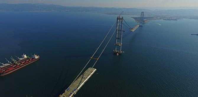 İzmit Körfez Geçişi Köprüsü 2 ay içinde tamamlanacak