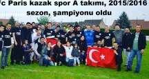 Fc Paris kazak spor A takımı 2015/2016 sezon, şampiyonu oldu