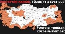 Referandumda Türkiye'nin kararı, yüzde 51-4 evet le sonuçlandı.