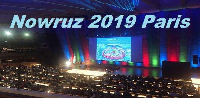 Nowruz- UNESCO était décorée aux couleurs de l'Azerbaïdjan, ce 20 mars 2019