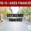 Covid-19 pandemi çerçevesinde sosyal ve finansal destekler. / Liste des aides sociales et financières dans le cadre de la pandémie du Covid-19.