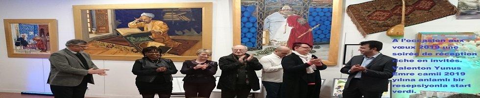 A l'occasion aux vœux 2019 une soirée de réception riche en invités. Valenton Yunus Emre camii 2019 yılına anlamlı bir resepsiyonla start verdi.